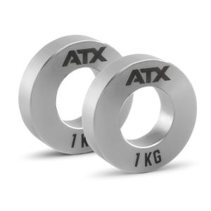 ATX® Mini Fractional Steel Plates - Juego completo 2 x 0,25 + 2 x 0,5 + 2 x 1.0 kg