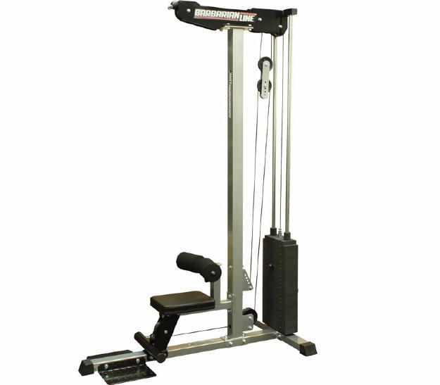 Estaci n de poleas alta y baja con 125 kg incorporados for Poleas para gimnasio