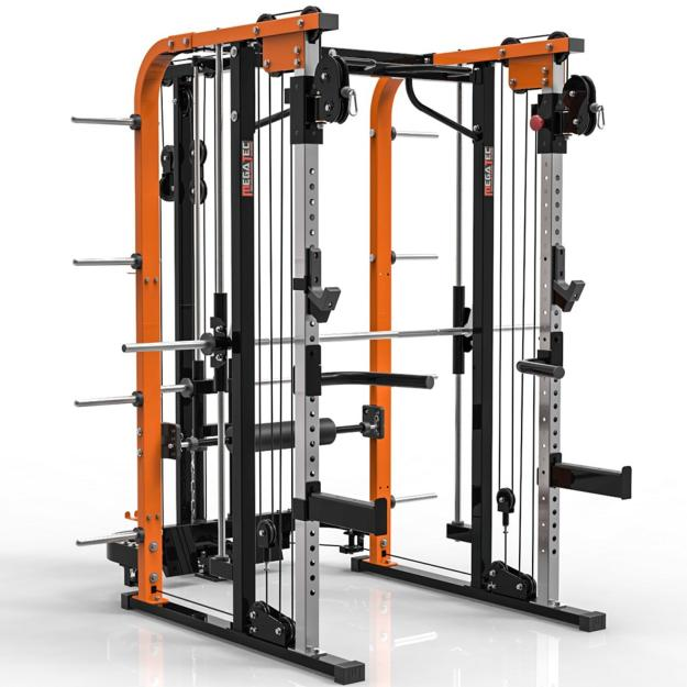 MegaTec® Smith Cable Rack - Multigimnasio - Carga con discos