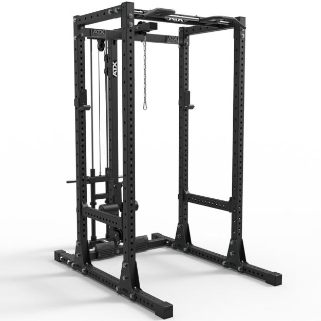ATX® POWER RACK 750 - SET 140 - Jaula de potencia + estación de poleas PRO
