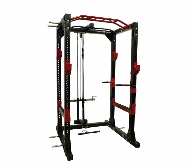 HEAVY DUTY - POWER RACK II - Jaula Multifuncional de musculación + estación de poleas