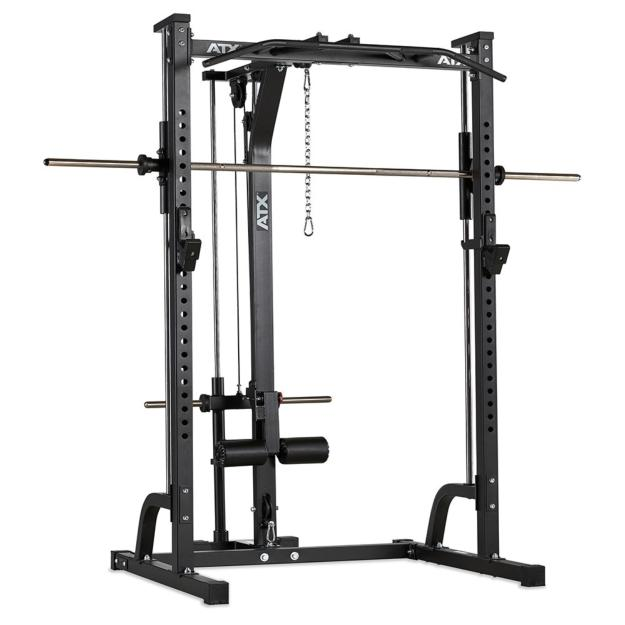ATX® Máquina de musculación - Multipress tipo smith 30mm - con estación de poleas