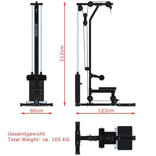 Estaci n de poleas con 115kg incorporados megatec for Poleas para gimnasio