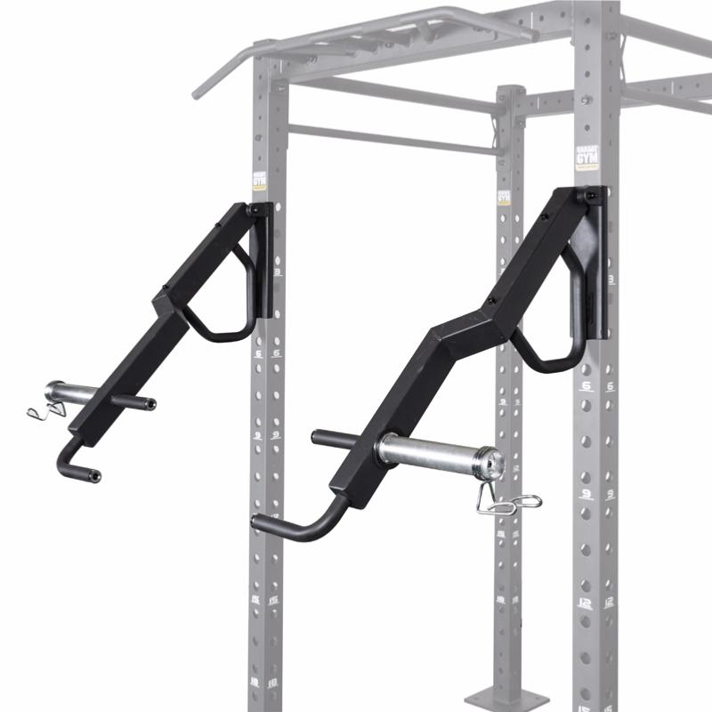 Garage gym lever push arms