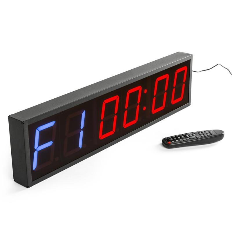 09001b310 Timer Reloj digital de pared con cronómetro para gimnasio de 6 dígitos
