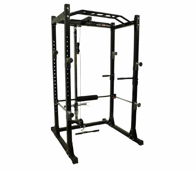 HEAVY DUTY - POWER RACK I - Jaula de potencia + estación de poleas