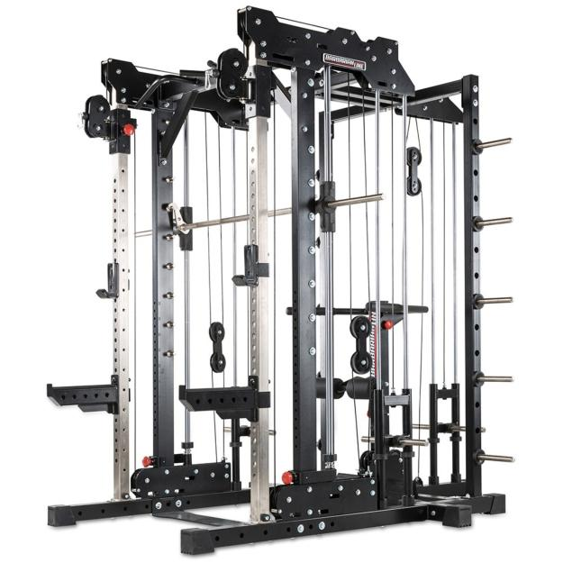 Multigimnasio profesional Barbarian-line Smith Cable Rack + Extensión