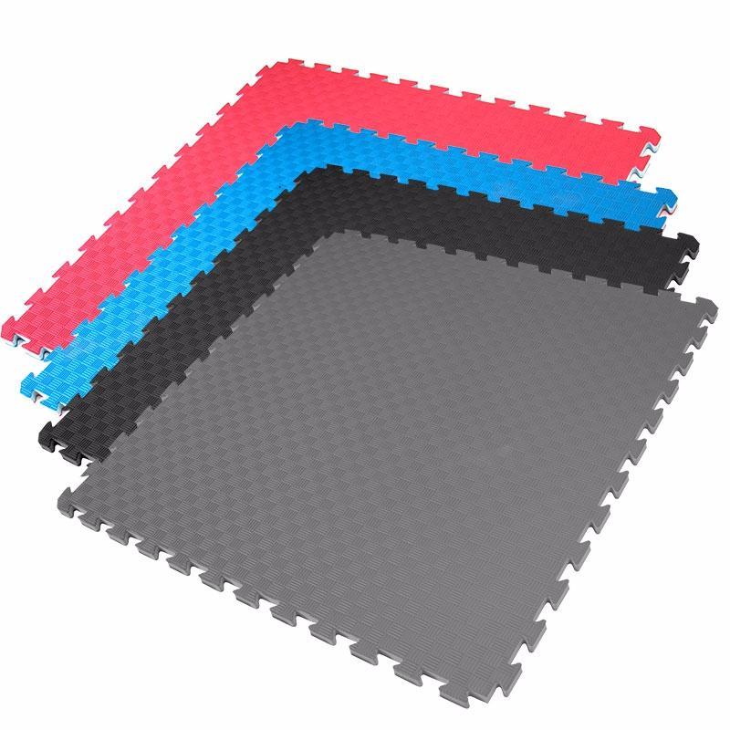 suelo de goma tipo puzzle universal para aerobic o artes
